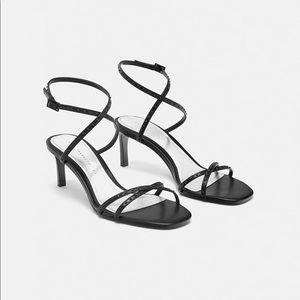 Zara micro- blotted sandals